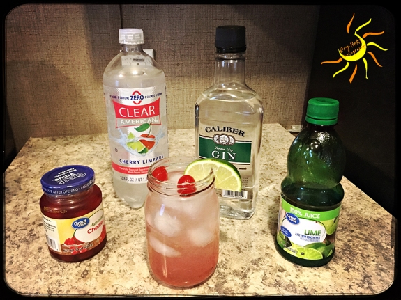 Cherry Limeade Collins Gin Cocktail Recipe