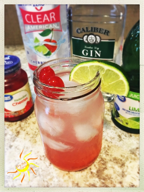 Gin Cherry Limeade Cocktail Recipe