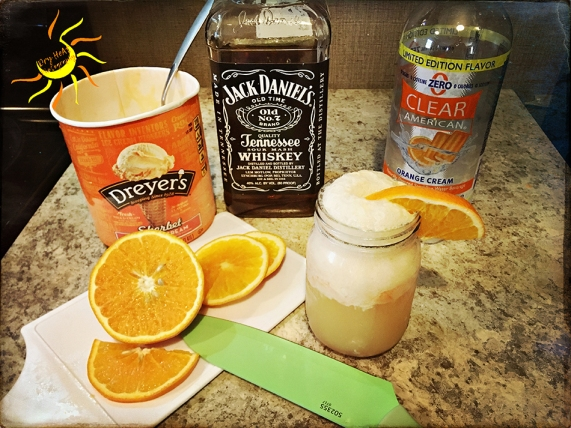 Orange Cream Bourbon Float