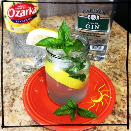 Lemon Basil Gin Cocktail