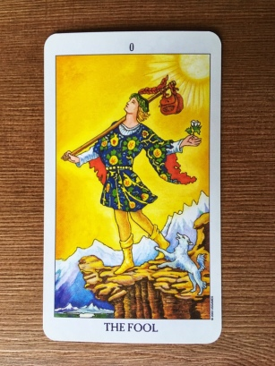 Card 0, The Fool. Radient Rider-Waite Tarot.