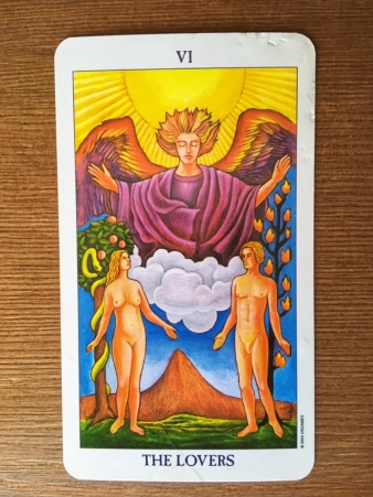 VI - The Lovers. Radiant Rider-Waite Tarot